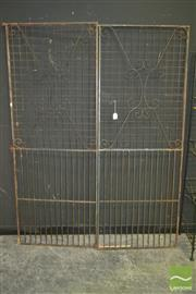 Sale 8284 - Lot 1011 - Pair of Garden Gates