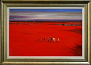 Sale 8309 - Lot 555 - Colin Parker (1941 - ) - The Long Trek 60 x 90cm