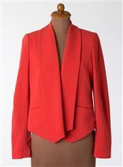 Sale 8550F - Lot 71 - A Calvin Klein waterfall front blazer in coral, size 10.