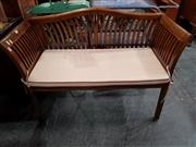 Sale 8717 - Lot 1048 - Small Mahogany Settee with Pink Cushion Seat
