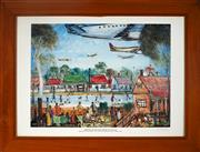 Sale 8969 - Lot 2027 - Kevin Charles Pro Hart Christmas Day near Sydney Airport 1994 decorative print, signed and dated 1996