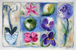 Sale 9252A - Lot 5082 - AMANDA BROOKS Shabby Chic Hydrangea, 2003 acrylic on canvas 100 x 150 cm signed, titled and dated verso
