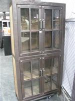 Sale 7919A - Lot 1111 - Industrial style four glass door wall unit