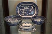Sale 8022 - Lot 90 - 2 Spode Italian Pattern Bowls and other Blue and White Wares