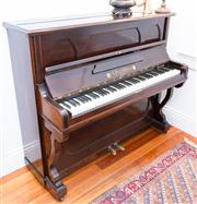 Sale 8308A - Lot 15 - An upright timber cased piano by R Gors & Kallmann of Berlin, Imported Elby's of Sydney