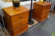 Sale 8532 - Lot 1320 - Pair of Pine Bedsides