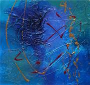 Sale 8645 - Lot 2065 - Julie Crozier - Untitled (Abstract, No.1) 30 x 30cm (frame: 66 x 56cm)