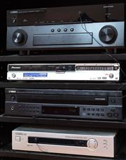 Sale 9020H - Lot 59 - A Yamaha AV reciever Model Number RX/A830 Aventage together with a pioneer DVD player a Yamaha CD player CDC685, A digital view DVH/...