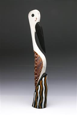 Sale 9093 - Lot 70 - Carved Ironwood Tiwi Bird (h:54cm)