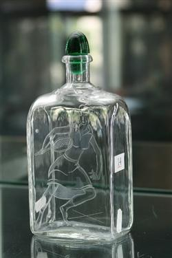 Sale 7917 - Lot 14 - Oreffors Bottle Signed to Base & Etched with a Tennis Player
