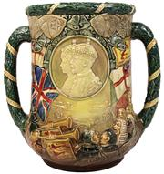 Sale 7978 - Lot 21 - Royal Doulton Commemorative Loving Cup