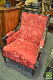 Sale 8386 - Lot 1034 - French Style Armchair in Red