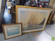 Sale 8483 - Lot 2062 - Group of (2) Decorative Framed Prints  incl. John Allcott and Geoff Hunt.