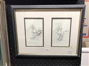 Sale 8845 - Lot 2091 - Framed Print of Winnie The Pooh Illustrations