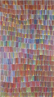 Sale 8929 - Lot 530 - Jeannie Mills Pwerle (1965 - ) - Bush Yam 173 x 97 cm (stretched and ready to hang)