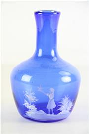 Sale 8948 - Lot 2 - A blue Mary Gregory style vase (H18.5cm)
