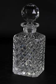 Sale 8977 - Lot 58 - A Cut-Glass Whiskey Decanter