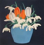 Sale 9078A - Lot 5083 - John Hall Thorpe (1874-1947) - Crocus & Snowdrops 16.5 x 15 cm (frame: 33 x 31 x 2 cm)
