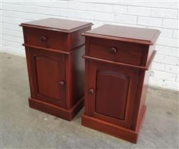 Sale 9137 - Lot 1044 - Pair of mahogany bedside chests (h:70 x w:41 x d:378cm)
