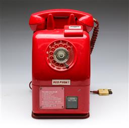 Sale 9168 - Lot 4 - A vintage 20c red dial phone