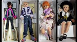 Sale 9176 - Lot 2575 - Collection of four Jan McLean Designs dolls - Fleur, Rose, Neena and Lily