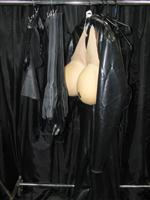 Sale 7926A - Lot 1792 - Latex clothing including male and female including a boiler suit man size with built ins
