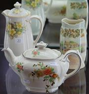 Sale 7950 - Lot 20 - Three Royal Doulton Pieces Incl, Primrose Coffee Pot, Rosalynd Teapot & Old English Vase