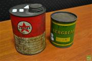 Sale 8511 - Lot 1052 - Vintage Grease Tins x 2