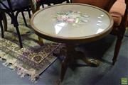 Sale 8566 - Lot 1738 - Tapestry Top Occasional Table (53 x 56)
