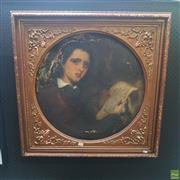 Sale 8640 - Lot 2030 - Artist Unknown - The Reader oil on canvas, 62 x 62cm, unsigned