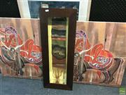 Sale 8648B - Lot 2074 - 3 Works: 2 Canvas Prints 27/50 & 49/50 with a Mixed Media Wall Hanging