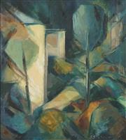 Sale 8764A - Lot 5095 - B Stewart - Untitled (View through the trees) 70.5 x 64cm