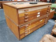 Sale 8908 - Lot 1033 - Abbess 2 Piece 9 Drawer Map Chest