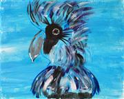Sale 8973 - Lot 2038 - Artist Unknown Blue Cockatoo acrylic on canvas, 40 x 50cm, unsigned