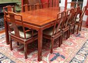Sale 9020H - Lot 33 - A Rosewood extension dining table with panelled design H78xW112x L- 250cm fully extended