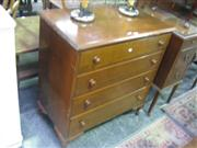 Sale 7933A - Lot 1144 - Chest of 3 Drawers on Cabriole Legs