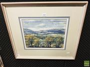 Sale 8449 - Lot 2047 - Darcy Forden - Countryscape 25.5 x 32cm
