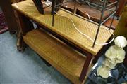 Sale 8129 - Lot 1078 - Rattan Two Tier Hall Table