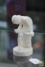 Sale 8256 - Lot 30 - Marble Figure Boy with Thorn