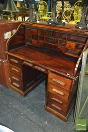 Sale 8380 - Lot 1073 - Mahogany Roll Top Desk