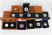 Sale 8391 - Lot 10 - Australian Silver Proof Coins incl Timber Cased