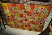 Sale 8509 - Lot 2096 - Rahab Nungarrayi Spencer - Goanna Dreaming approx. 75 x 100cm (stretched & ready to hang)