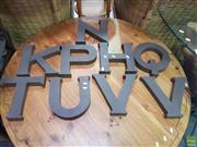 Sale 8611 - Lot 1048 - Large Collection of Metal Letters
