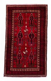 Sale 8800C - Lot 90 - A Persian Baluchi Tribal Hand Knotted Wool Rug, 154 x 261cm