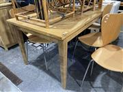 Sale 8876 - Lot 1032 - Timber Dining Table with Parquetry Top