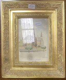 Sale 9106 - Lot 2044 - Artist Unknown (EHB) - Final Residence of Sir Henry Parkes, Johnston St, N. Annandale NSW, 1935 frame: 28 x 23 cm