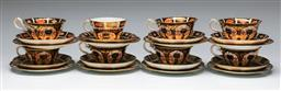 Sale 9138 - Lot 112 - Set of Six Royal Crown Derby Imari Pattern Trios together with two other mismatched trios