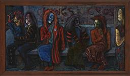Sale 9184A - Lot 5079 - WILLIAM YORK Kings Cross oil on canvas 105 x 188.5 cm (frame: 120 x 202 x 5 cm) signed lower right