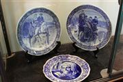 Sale 7977 - Lot 56 - 3 Large Delft Chargers