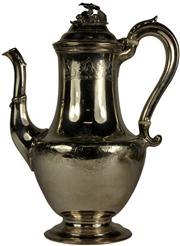 Sale 8065 - Lot 34 - English Hallmarked Sterling Silver William IV Coffee Pot